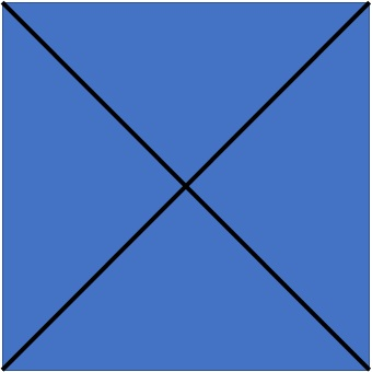 Draw an X to find the center of the raw stock.